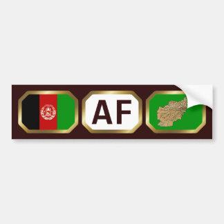 Afghanistan Flag Map Code Bumper Sticker Car Bumper Sticker