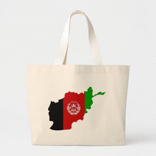 Afghanistan Flag Map full size Jumbo Tote Bag