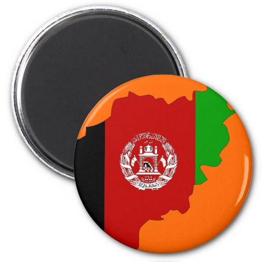 Afghanistan flag map magnets