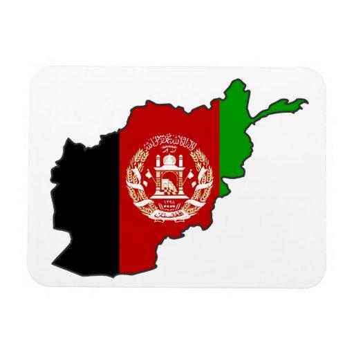 Afghanistan Flag Map Rectangle Magnets