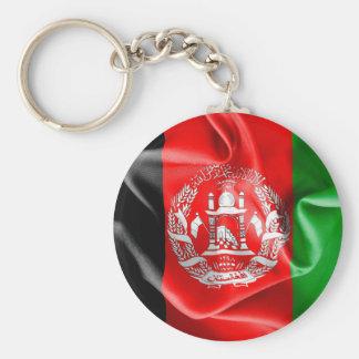 Afghanistan Flag Round Button Keychain