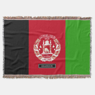 Afghanistan Flag Throw Blanket