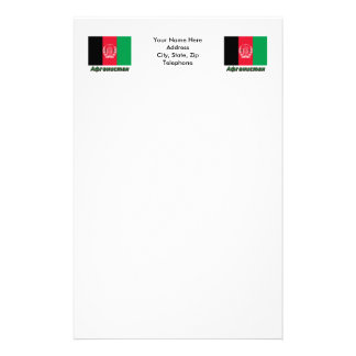 Afghanistan Flag with name in Russian Stationery