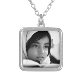 Afghanistan Girl Silver Plated Necklace