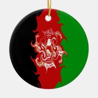 Afghanistan Gnarly Flag Ceramic Ornament