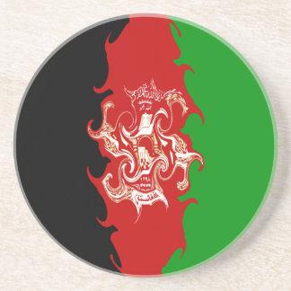 Afghanistan Gnarly Flag Drink Coaster