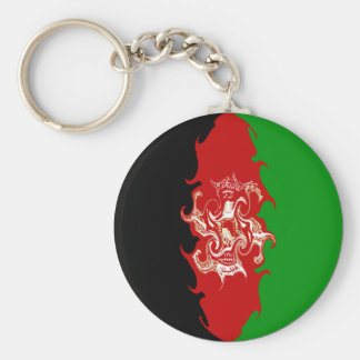 Afghanistan Gnarly Flag Keychain