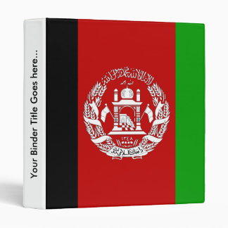 Afghanistan High quality Flag Binder