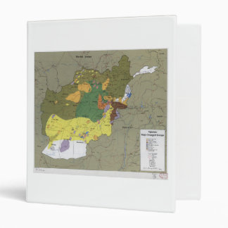 Afghanistan Major Insurgent Groups Map (1985) Binder