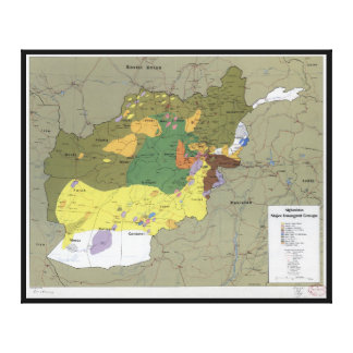 Afghanistan Major Insurgent Groups Map (1985) Canvas Print