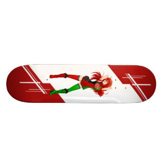 Afghanistan Manga Anime girl dressed in Flag Skateboard