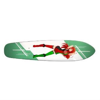 Afghanistan Manga Anime girl dressed in Flag Skateboard Deck