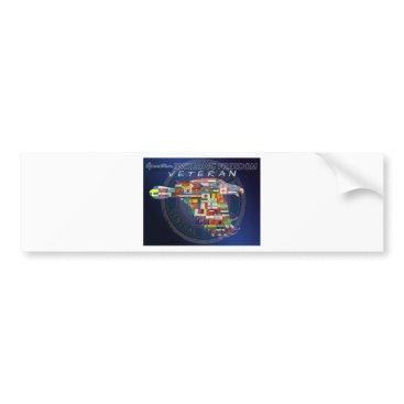 AFGHANISTAN O.E.F. VET BUMPER STICKER