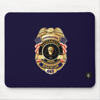 Afghanistan Police Contractor Rule of Law Pad Mouse Pad