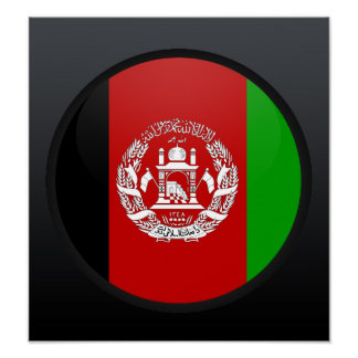 Afghanistan quality Flag Circle Poster