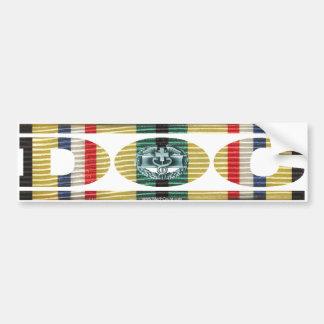 Afghanistan Ribbon Doc - CMB Car Bumper Sticker