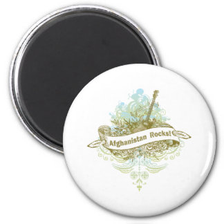 Afghanistan Rocks 2 Inch Round Magnet