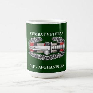 Afghanistan Service Ribbon CAB Combat Veteran Mug