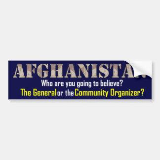 Afghanistan Strategy Car Bumper Sticker