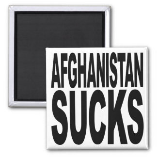 Afghanistan Sucks 2 Inch Square Magnet