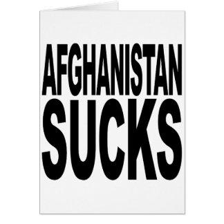 Afghanistan Sucks Card
