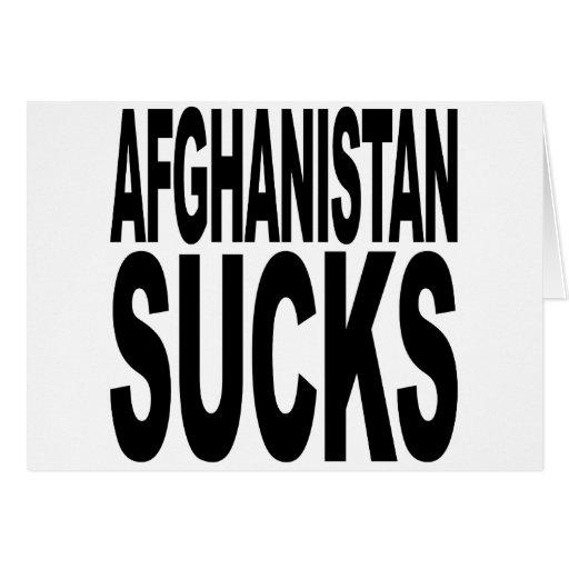 Afghanistan Sucks Greeting Cards