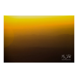 Afghanistan Sunset Over the Mountains Poster