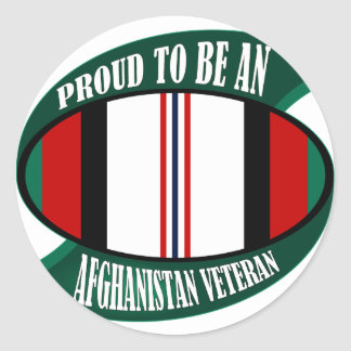 Afghanistan Vet Classic Round Sticker