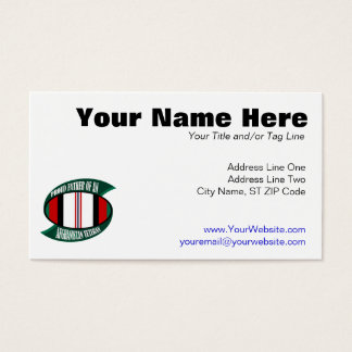 Afghanistan Vet Father Business Card