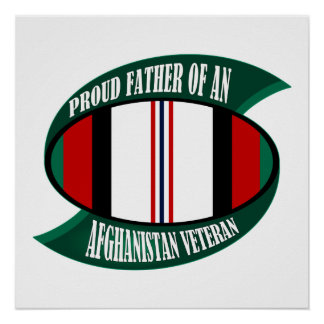 Afghanistan Vet Father Poster