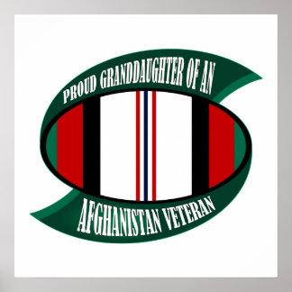 Afghanistan Vet Granddaughter Poster
