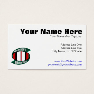 Afghanistan Vet Mother Business Card