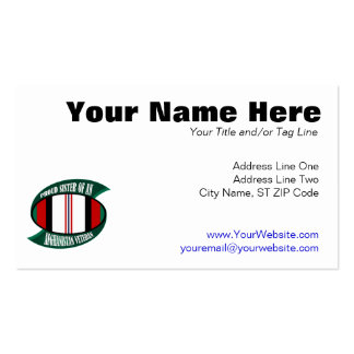 Afghanistan Vet Sister Business Card Template