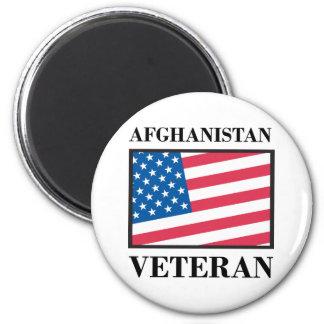 Afghanistan Veteran 2 Inch Round Magnet