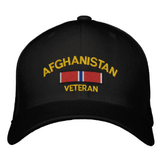 Afghanistan Veteran Bronze Star Embroidered Hat