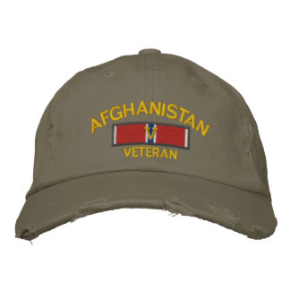 Afghanistan Veteran Bronze Star with V Embroidered Baseball Cap