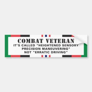 Afghanistan Veteran Erratic Driver Bumper Sticker