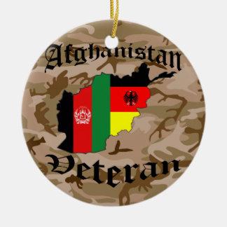 Afghanistan veteran German Ceramic Ornament