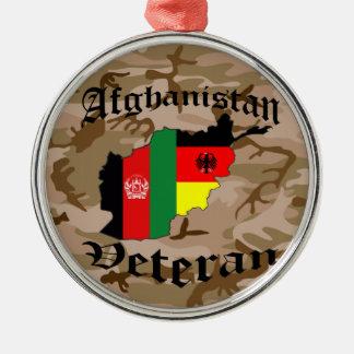 Afghanistan veteran German Metal Ornament