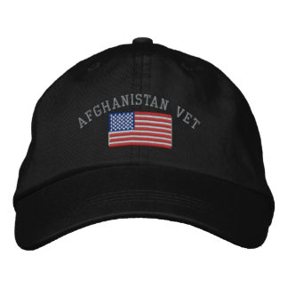 Afghanistan Veteran Patriotic Military Embroidered Baseball Hat