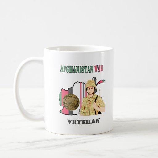 Afghanistan War Veteran Coffee Cup Mugs