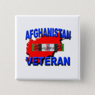 Afghanistan War Veteran Service Ribbon Button