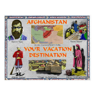 Afghanistan: Your Vacation Destination Postcard