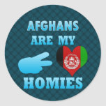 Afghans are my Homies Round Stickers
