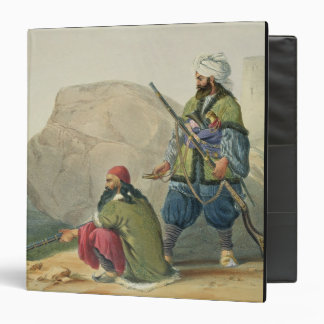 Afghaun Foot Soldiers in their Winter Dress, with 3 Ring Binder