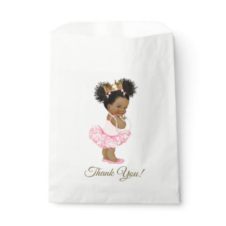 Afican American Princess Baby Shower Gift Bags