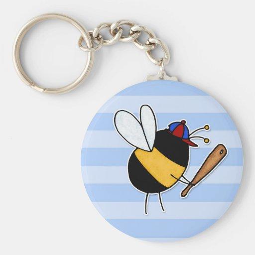 afición - bastante abeja que golpea homeruns ningú llavero redondo tipo pin