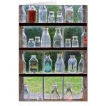 Afición - colector - botellas de leche tarjeton