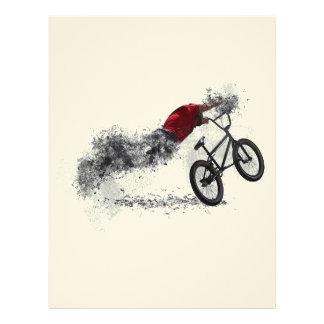 Afición de la bici del deporte membrete