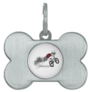 Afición de la bici del deporte placa mascota